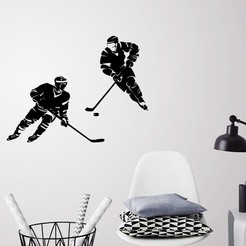 Presentation1.jpg Download STL file HOCKEY PLAYERS WALL DECORATION • Object to 3D print, 3dprintlines