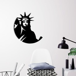 Demo.jpg Download STL file Liberty statue wall decoration  • 3D printing object, 3dprintlines