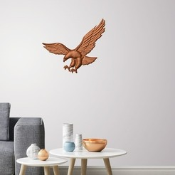 3D print model Eagle 3D wall decoration , 3dprintlines
