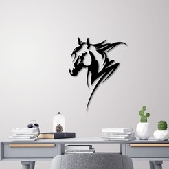 3D printing model Horse head wall decoration, 3dprintlines