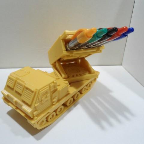 DSC01262.JPG Download STL file Missiles Launcher Pen & Pencil holder • Design to 3D print, 3dprintlines