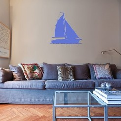 Download 3D printer model SAILING BOAT FOR WALL DECORATION_5, 3dprintlines