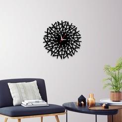 Télécharger STL Horloge murale décorative C8, 3dprintlines