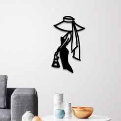 Descargar STL Decoración elegante de la pared de la señora, 3dprintlines