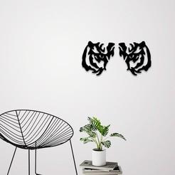 Télécharger fichier STL Décoration murale des yeux de tigre, 3dprintlines