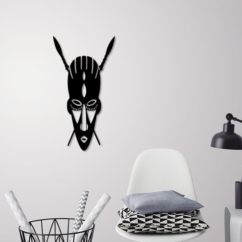 Download 3D printing templates African mask wall decoration, 3dprintlines