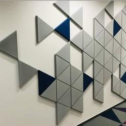 Modelos 3D para imprimir Formas de pared decorativas (3 formas), 3dprintlines