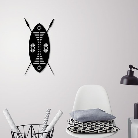 Download 3D printing templates African Shield for wall decoration, 3dprintlines