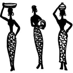 Diseños 3D Mujeres africanas arte mural_2, 3dprintlines