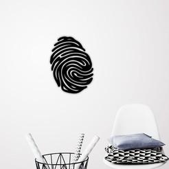 Télécharger fichier impression 3D Art mural par empreinte digitale, 3dprintlines