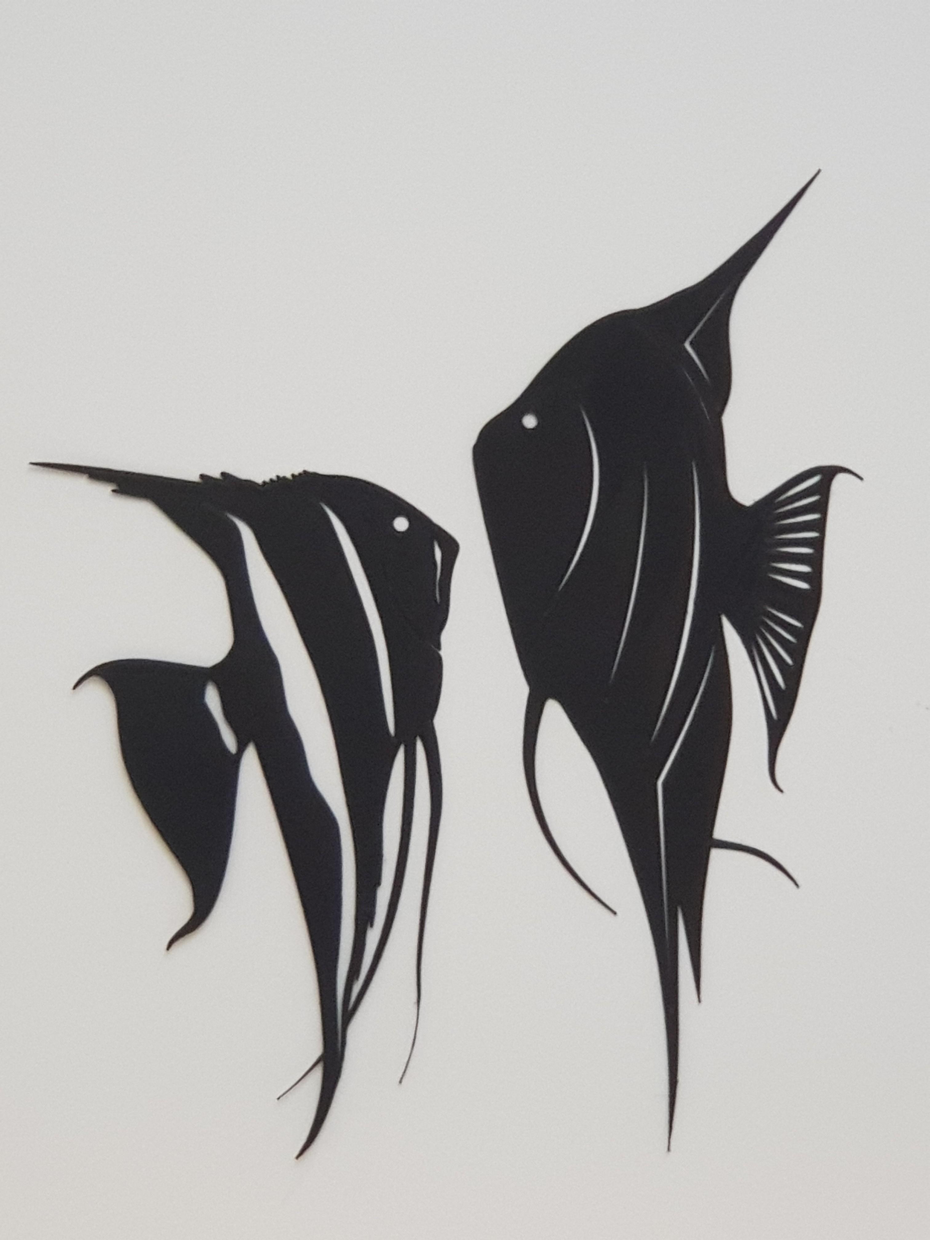 20180904_182555.jpg Download STL file Angel fish wall art \ Decor • 3D printing object, 3dprintlines