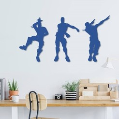 Download 3D printer model Fortnite dance wall decoration, 3dprintlines