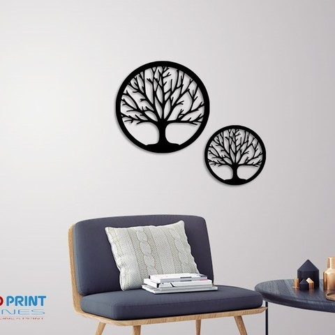 Télécharger plan imprimante 3D Silhouette Art Tree wall Art, 3dprintlines