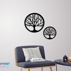 Download 3D printing models Silhouette Art Tree wall Art, 3dprintlines