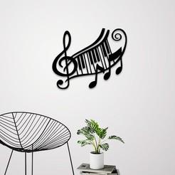 Télécharger modèle 3D Art mural des enseignes musicales, 3dprintlines