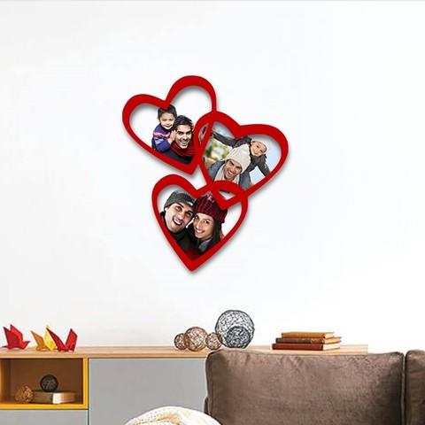 Modelos 3D para imprimir Marco de fotos Corazones de familia, 3dprintlines