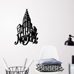 Download 3D printer designs NEW YORK CITY WALL ART, 3dprintlines