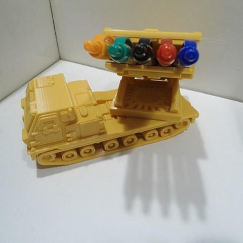 DSC01264.JPG Download STL file Missiles Launcher Pen & Pencil holder • Design to 3D print, 3dprintlines