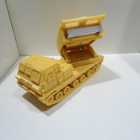 3D printer models Missiles Launcher Business Card Holder , 3dprintlines
