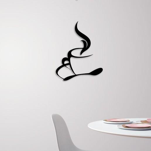 Descargar archivos STL Taza de café para la decoración de la pared, 3dprintlines