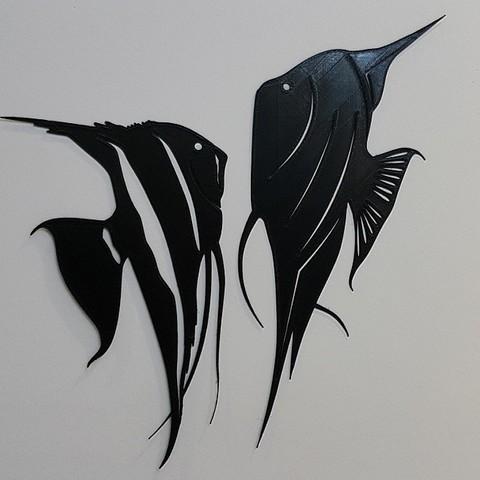 22.jpg Download STL file Angel fish wall art \ Decor • 3D printing object, 3dprintlines