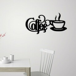 Demo.jpg Télécharger fichier STL Décoration murale des enseignes de café • Modèle pour imprimante 3D, 3dprintlines