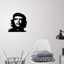 Download 3D model Che Guevara silhouette wall art, 3dprintlines