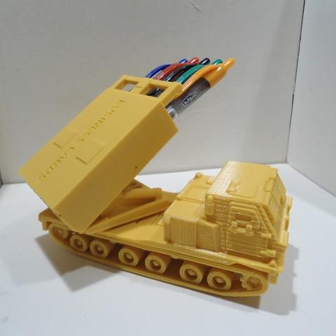 DSC01279.JPG Download STL file Missiles Launcher Pen & Pencil holder • Design to 3D print, 3dprintlines