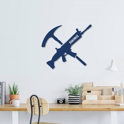 Download 3D printer designs Fortnite wall decoration, 3dprintlines
