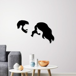promo.jpg Download STL file man and woman wall decoration  • 3D print design, 3dprintlines