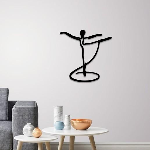 Download 3D model Pale dancer wall art, 3dprintlines