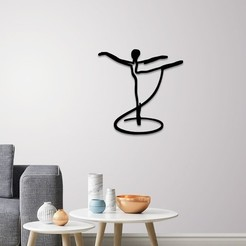 Download 3D model Pale dancer wall art, 3dprintlines