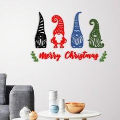 demo.jpg Télécharger fichier STL Décoration murale de Joyeux Noël • Plan pour imprimante 3D, 3dprintlines