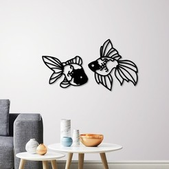 Download 3D printer designs Fantail Goldfish wall decoration , 3dprintlines