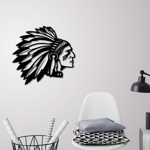 Presentation2.jpg Download STL file Indian man wall decoration • 3D printable model, 3dprintlines