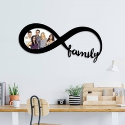 Download STL Family infinity photo frame , 3dprintlines