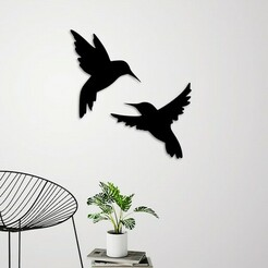 demo.jpg Download STL file Flying birds wall decoration  • 3D printable template, 3dprintlines