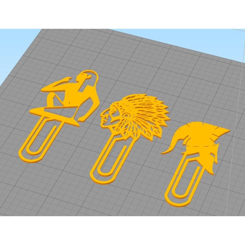 group.jpg Télécharger fichier STL gratuit Signet de lecture ( 3 clips) • Design imprimable en 3D, 3dprintlines