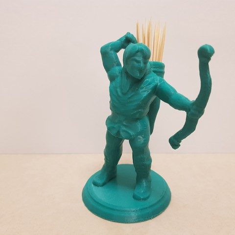 Download 3D printing files Archer toothpick holder, 3dprintlines