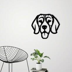 Demo.jpg Download STL file Dog face wall decoration • 3D printable template, 3dprintlines