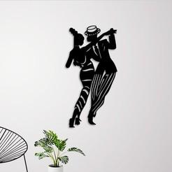 Download 3D printer designs PROM DANCING WALL ART, 3dprintlines