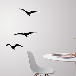 3D printer files Flying birds for wall decoration , 3dprintlines