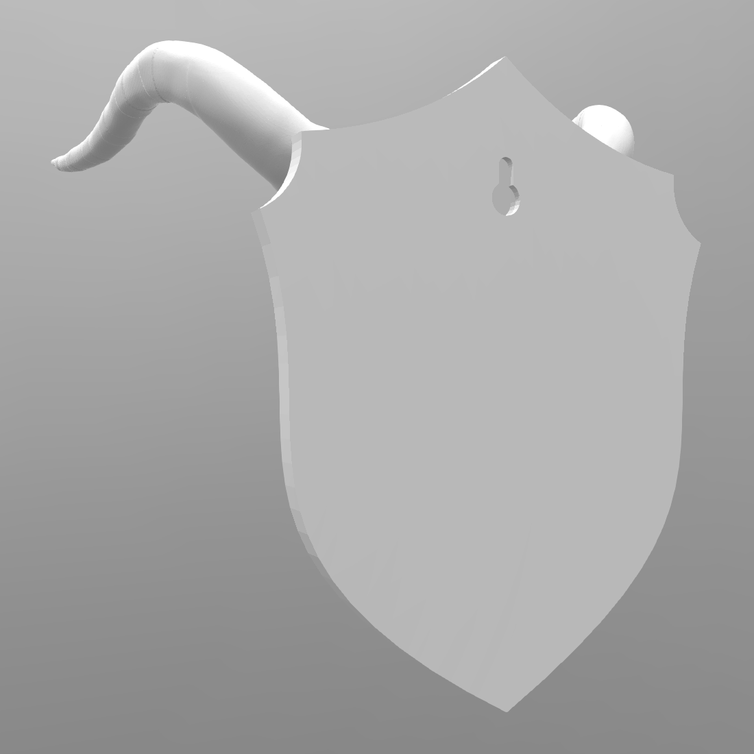 Screenshot 2018-08-31 21.57.24.png Download free STL file Cow Skull on Shield • 3D printable object, LeviDT