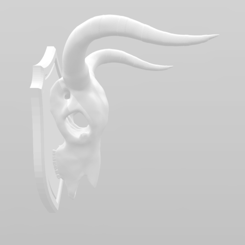 Screenshot 2018-08-31 21.57.11.png Download free STL file Cow Skull on Shield • 3D printable object, LeviDT
