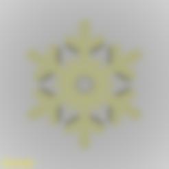 Modelos 3D para imprimir gratis Llavero Cristal de Nieve Silueta, GadgetPrint