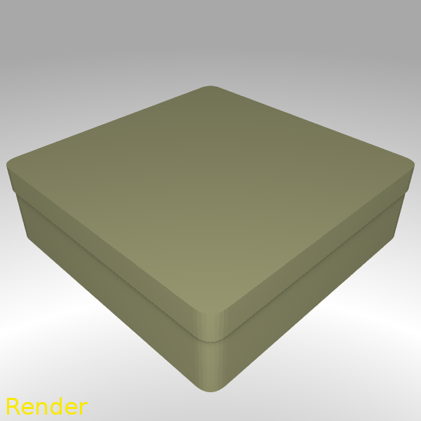 box-square-round-m-001-render.png Download free STL file Square Shaped Box Rounded - Medium • Template to 3D print, GadgetPrint