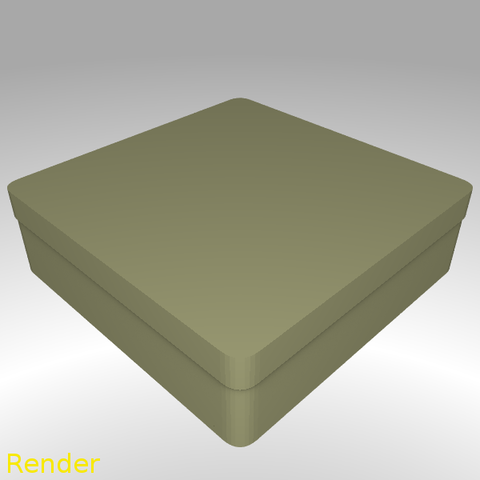 Download free 3D printer model Square Shaped Box Rounded - Medium, GadgetPrint