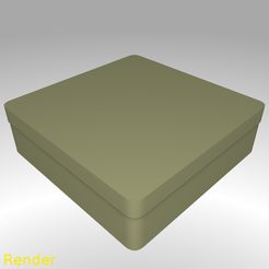 Free 3D print files Square Shaped Box Rounded - Medium, GadgetPrint