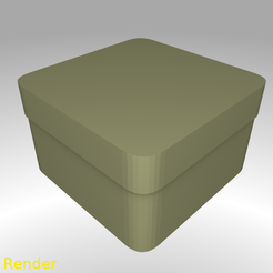 Free 3d print files Square Shaped Box Rounded - Small, GadgetPrint