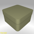 box-square-round-s-001-render.png Download free STL file Square Shaped Box Rounded - Small • 3D print template, GadgetPrint